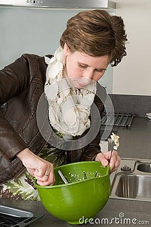 Woman Baking Cakes