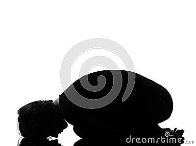 woman balasana child pose yoga stock images  image 21110084