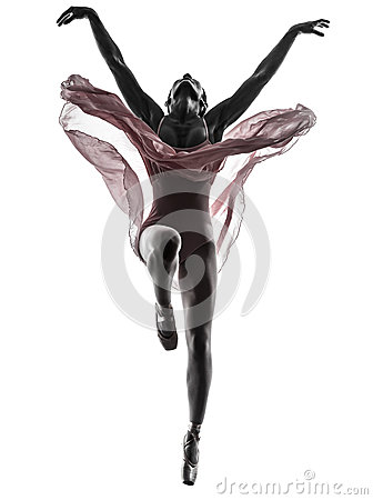 Free Woman Ballerina Ballet Dancer Dancing Silhouette Royalty Free Stock Image - 33184796