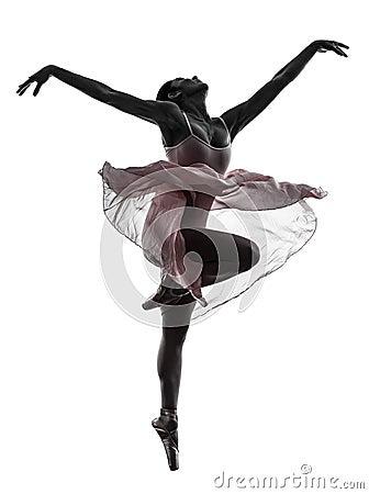 Free Woman Ballerina Ballet Dancer Dancing Silhouette Royalty Free Stock Photos - 33184818