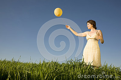 Woman with ballon