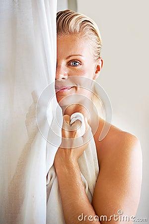 Woman after bath