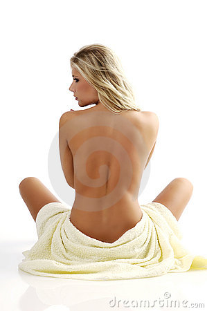 Woman in the bath towel