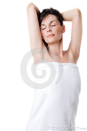 Woman In bath towel