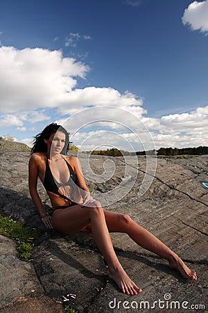 Woman in bathing suit