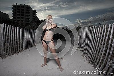 Stock image of a woman in a bikini