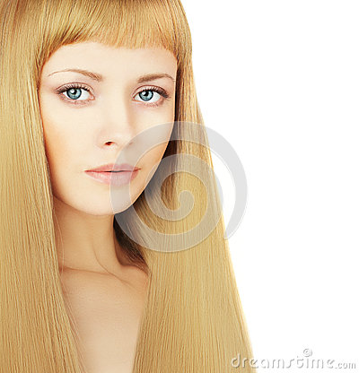 Woman with beautiful blond hair