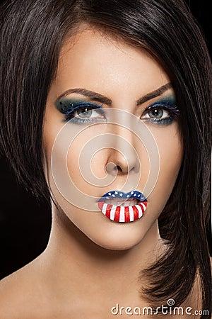 Woman beautiful face with perfect makeup