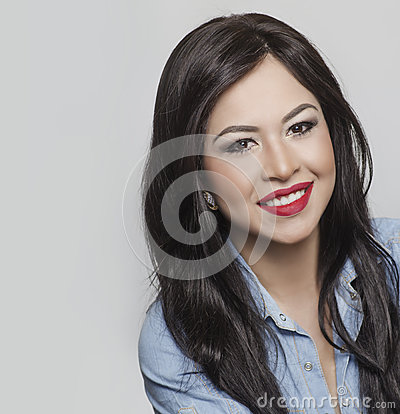 Woman with beautiful happy smile