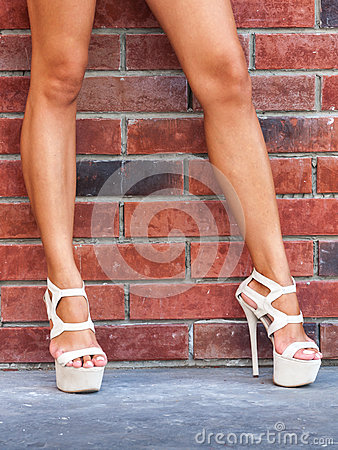 Woman beautiful legs high heels
