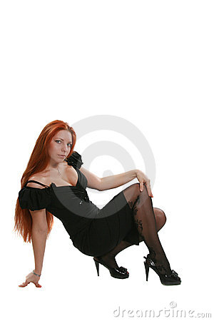 Woman with beautiful red hair