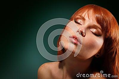 Woman beautiful young make-up
