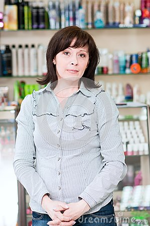 Woman in a beauty shop