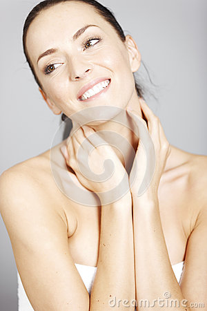 Woman in beauty style pose