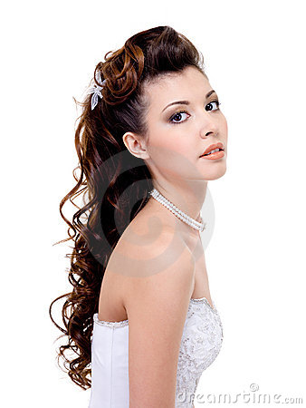 Woman with beauty wedding hairstyle