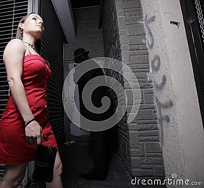 Woman being followed