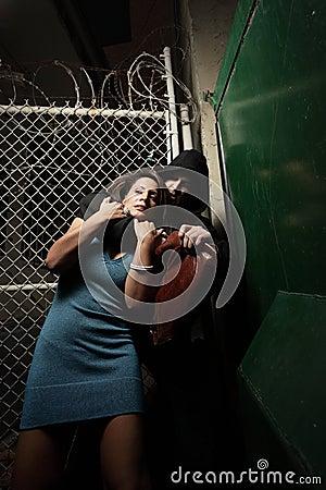 Woman being mugged