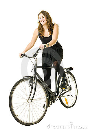 Woman On A Bicycle Royalty Free Stock Image - Image: 22650336