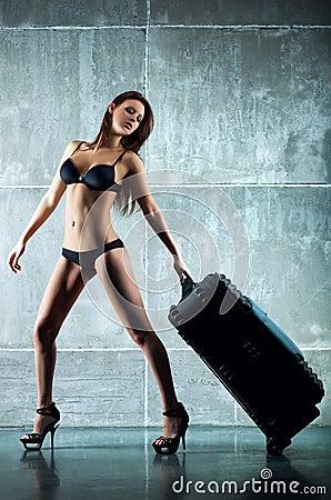 Woman with big bag