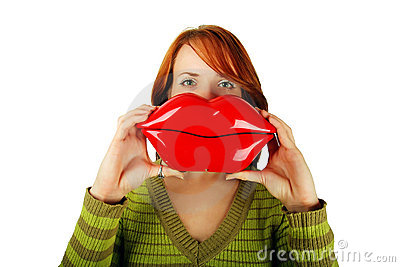 Woman with big lips