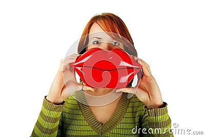 Woman with big lips