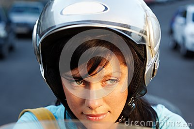 Woman on the bike
