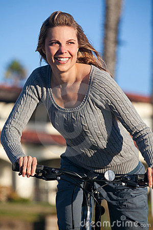 Woman bike ride