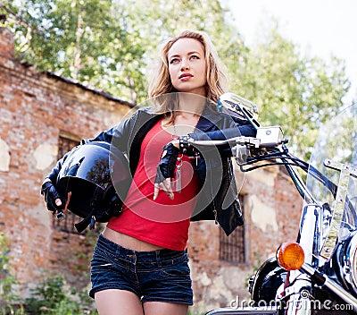 Woman biker