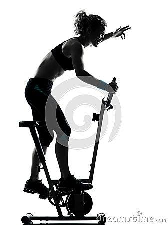 Woman biking workout fitness posture