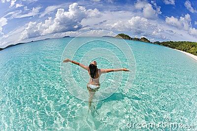 Woman bikini freedom