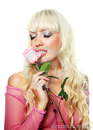 Free Woman Biting A Rose Royalty Free Stock Photography - 10854717