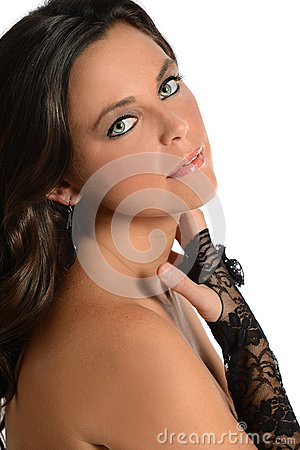 Woman With Black Glove
