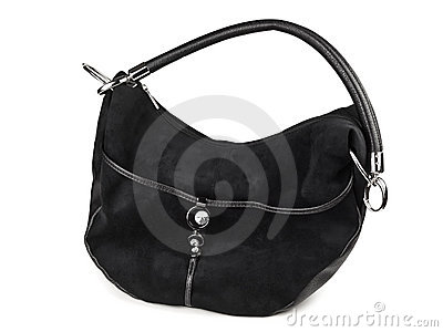 Woman black handbag