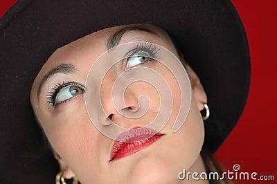 Woman in black hat 3