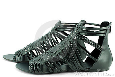Woman black sandals
