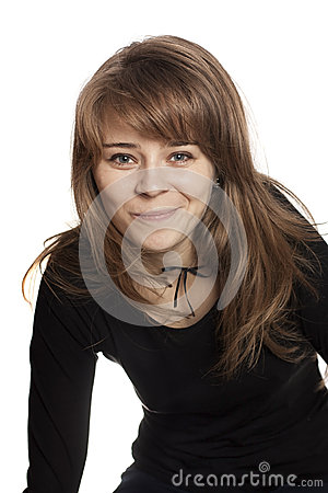 Woman with black shirt