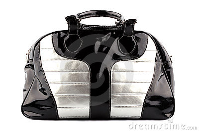 Woman black-silvery bag