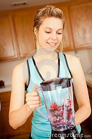 Woman blender