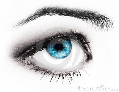 Woman blues eye