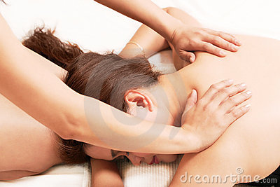 Woman body massage