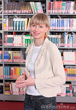 Woman In Book Store Stock Photos - Image: 5237253