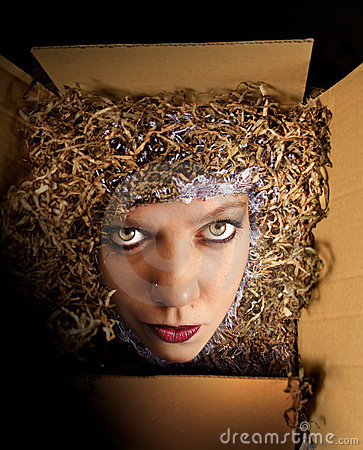 Woman in the box