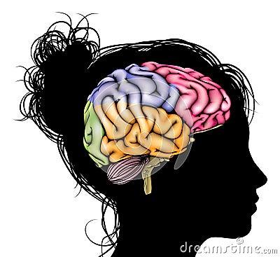 Free Woman Brain Concept Stock Image - 44869981