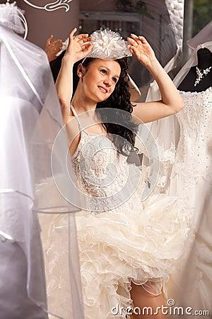 Woman in Bridal Shop