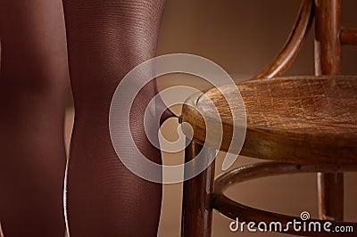 Woman broke stockings