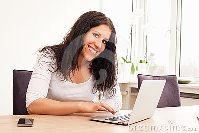 Woman Browsing the Internet