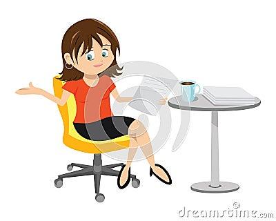 Woman Brunette Sitting