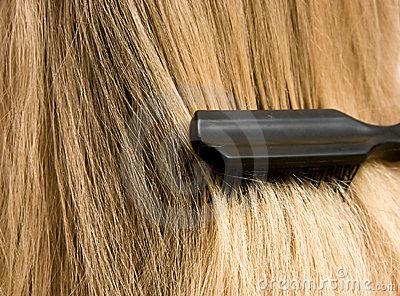 Woman brush hair