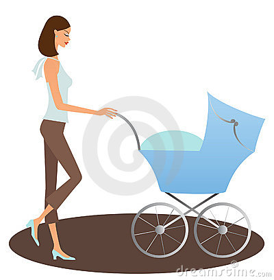 Woman with buggy