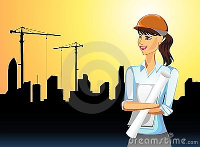Woman on building activity